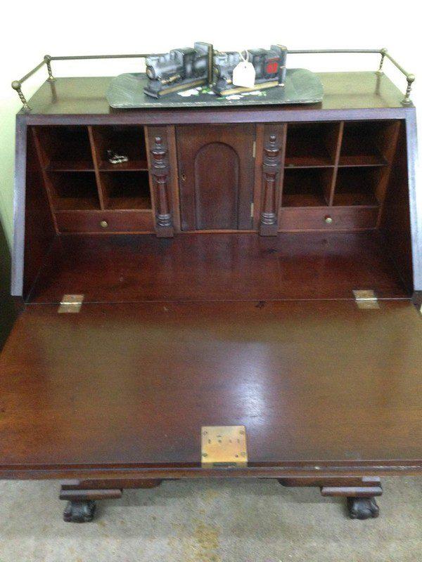 Drop Front Desk >> Small Mahogany Drop Front Desk