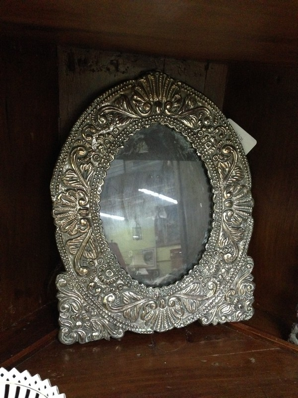 Antique Sterling Silver Frame The
