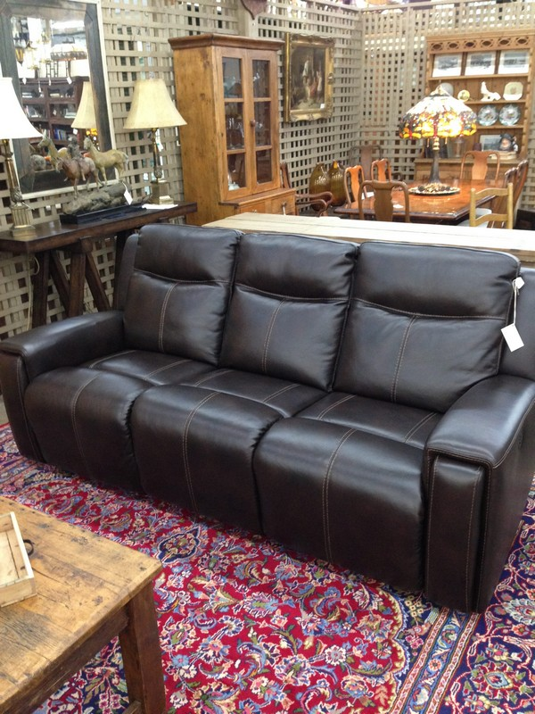 Brown Power Leather Sofa