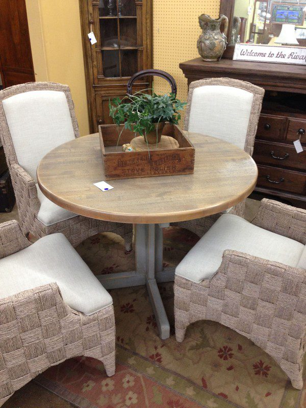 Distressed Oak Round Table The Architectural Warehouse