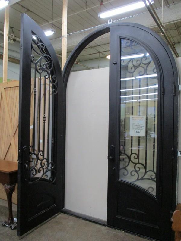 Wrought Iron Double Door