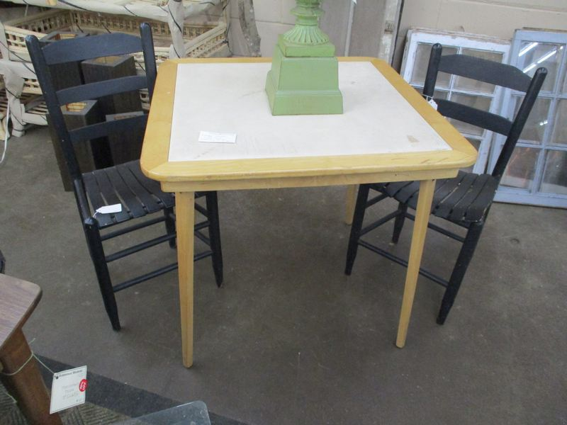 Vintage Wooden Card Table The